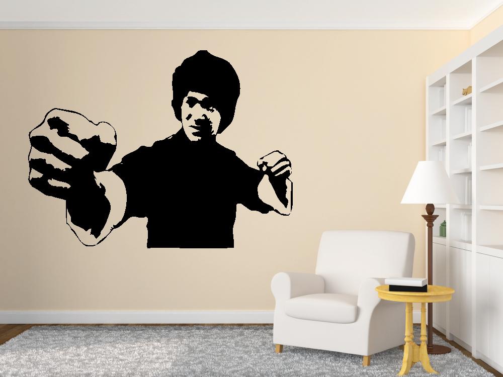 Samolepky na zeď - Bruce Lee - samolepka na zeď