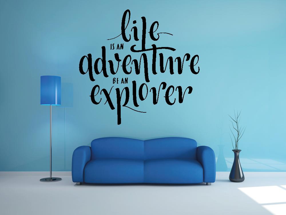 Samolepky na zeď - Life is an adventure - samolepka na zeď
