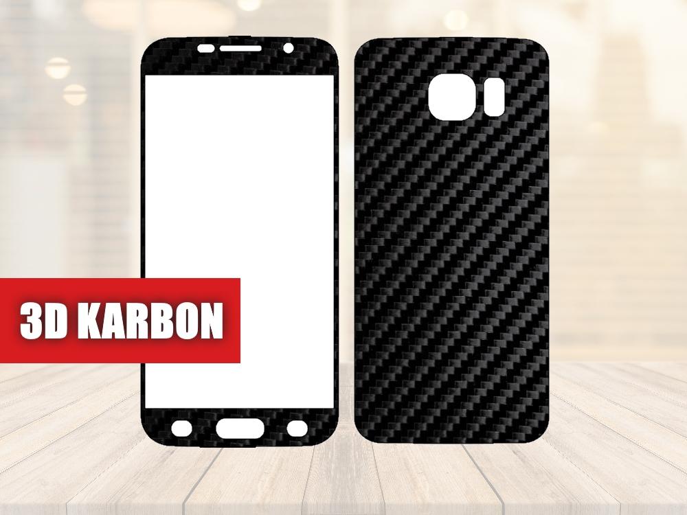 Skiny pro SAMSUNG - Samsung Galaxy S6 - Skin samolepka - 3D Karbon - Ochranná fólie