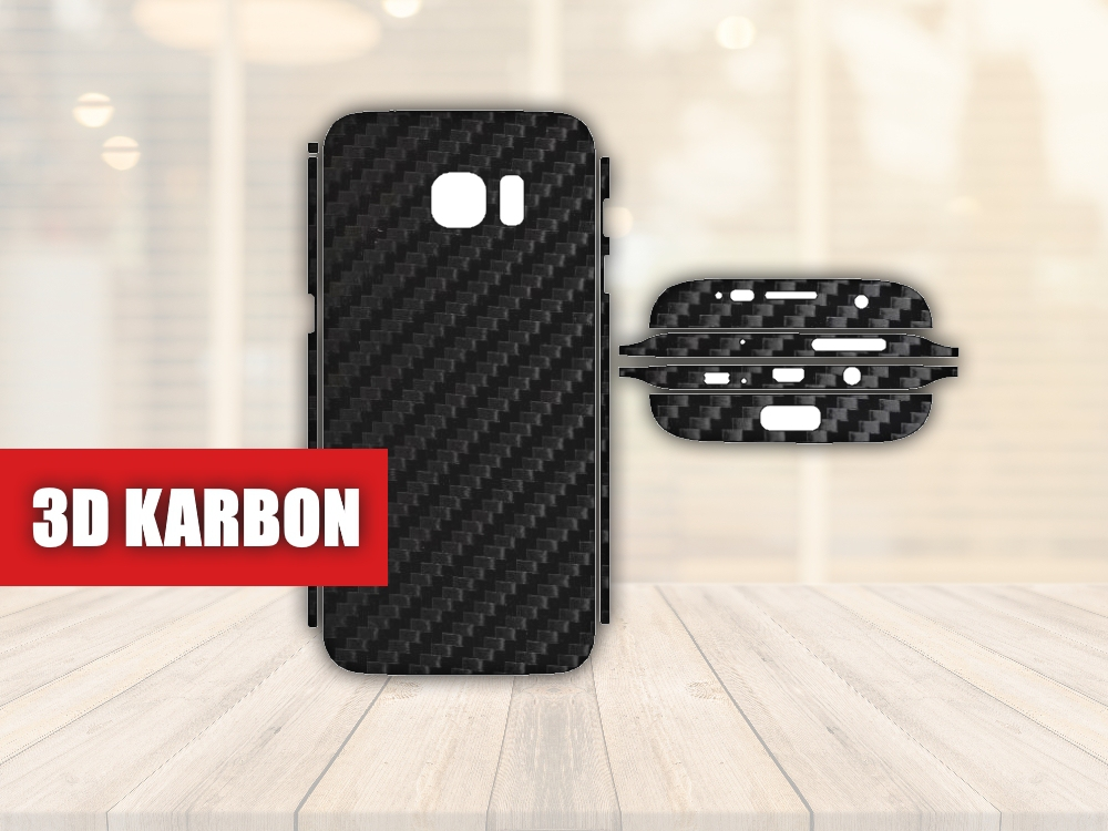 Skiny pro SAMSUNG - Samsung Galaxy S7 EDGE - Skin samolepka - 3D Karbon - Ochranná fólie