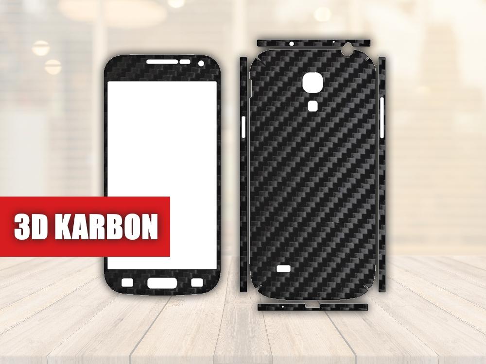 Skiny pro SAMSUNG - Samsung Galaxy S4 Mini - Skin samolepka - 3D Karbon - Ochranná fólie