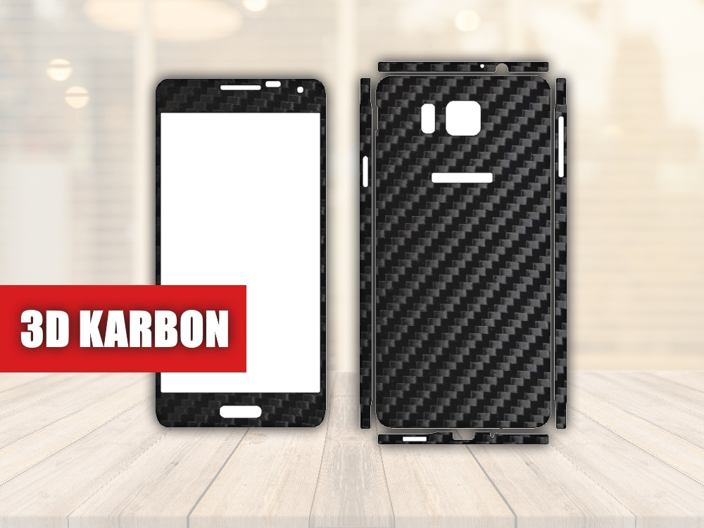 Skiny pro SAMSUNG - Samsung Galaxy Alpha - Skin samolepka - 3D Karbon - Ochranná fólie