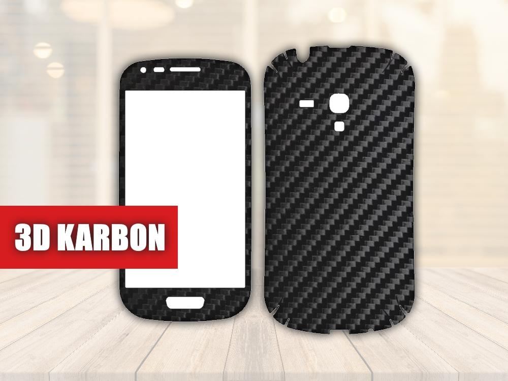 Skiny pro SAMSUNG - Samsung Galaxy S3 Mini - Skin samolepka - 3D Karbon - Ochranná fólie