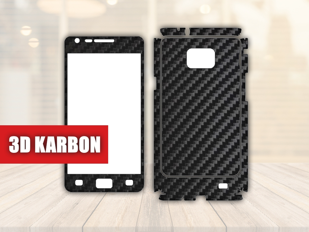 Skiny pro SAMSUNG - Samsung i9100 Galaxy S II - Skin samolepka - 3D Karbon - Ochranná fólie