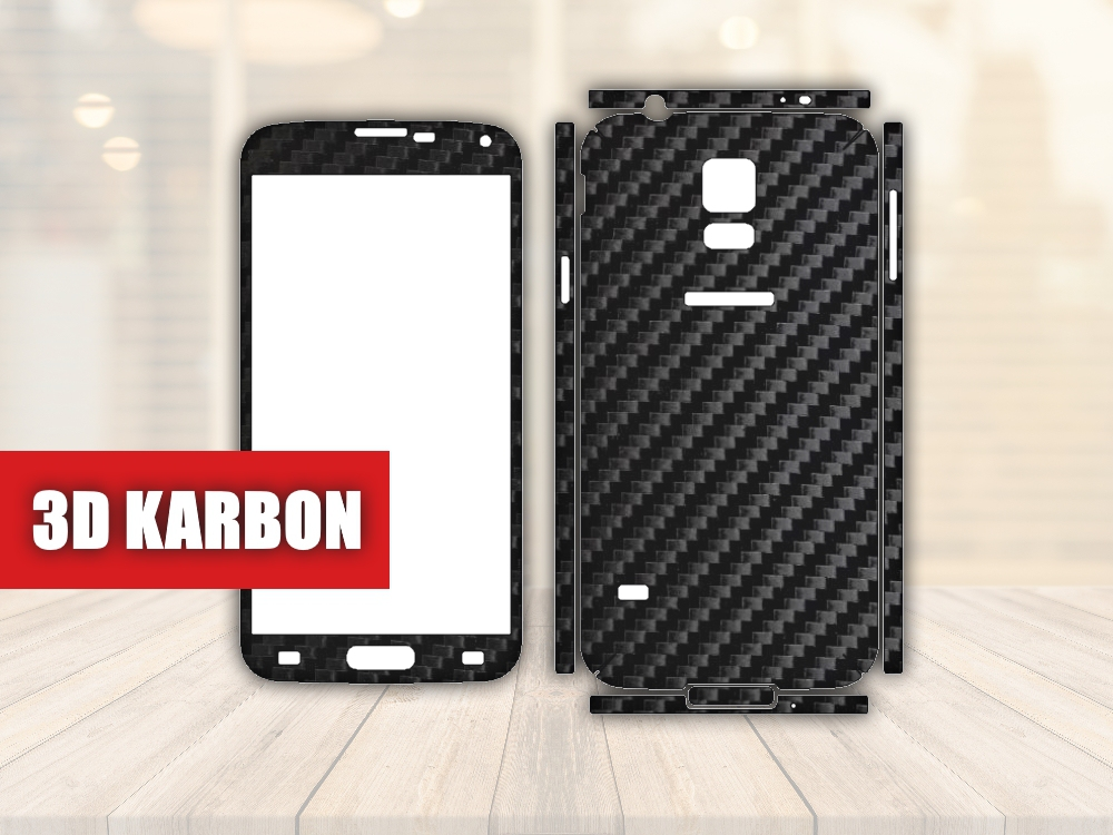 Skiny pro SAMSUNG - Samsung Galaxy S5 - Skin samolepka - 3D Karbon - Ochranná fólie