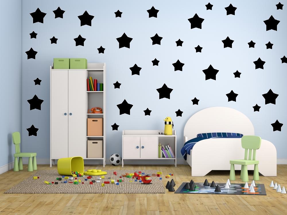 Samolepky na zeď - Sada 43 hvězd - Samolepka na zeď