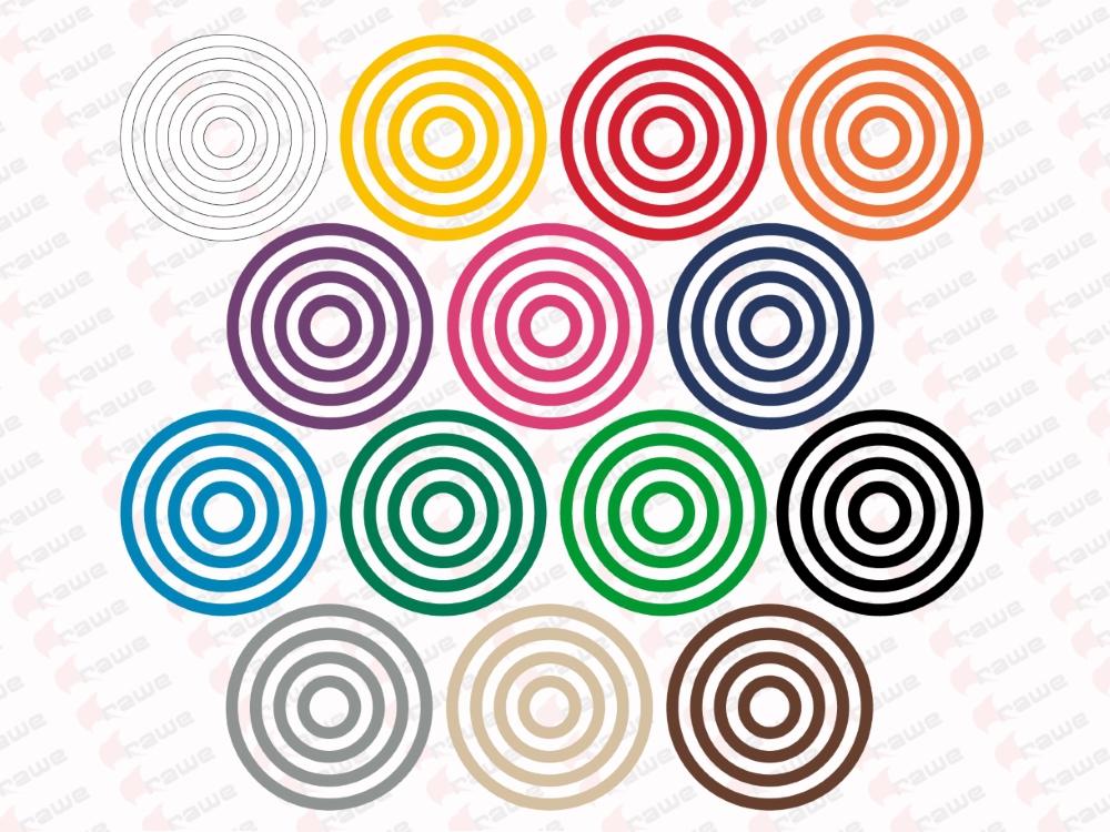 Samolepky na zeď - Sada 56 barevných kruhů - průměr 13,10,7 a 4cm - síla 1,5cm - Samolepka na zeď