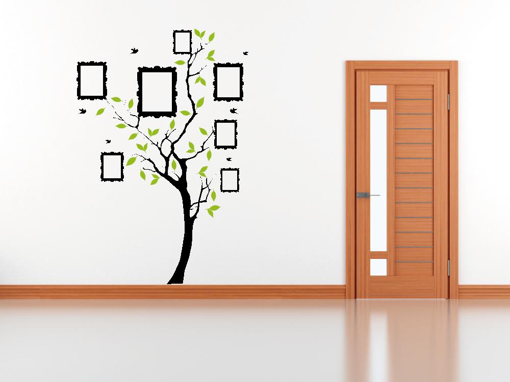 Samolepky na zeď - Strom s rámečky - Samolepka na zeď