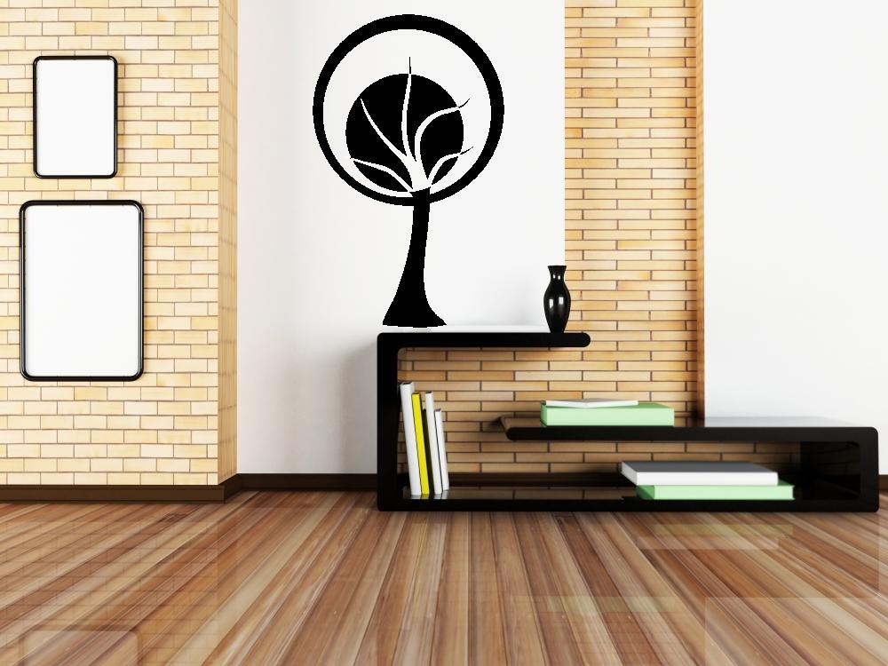 Samolepky na zeď - Abstraktní kruhový strom - Samolepka na zeď