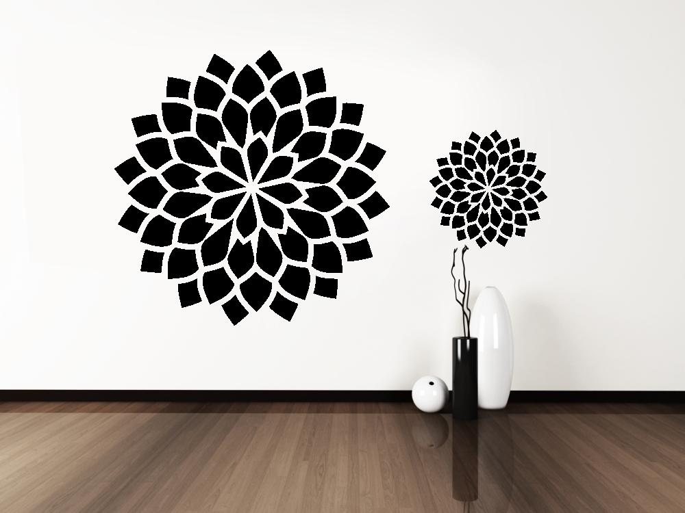 Samolepky na zeď - Abstraktní květ - Samolepka na zeď