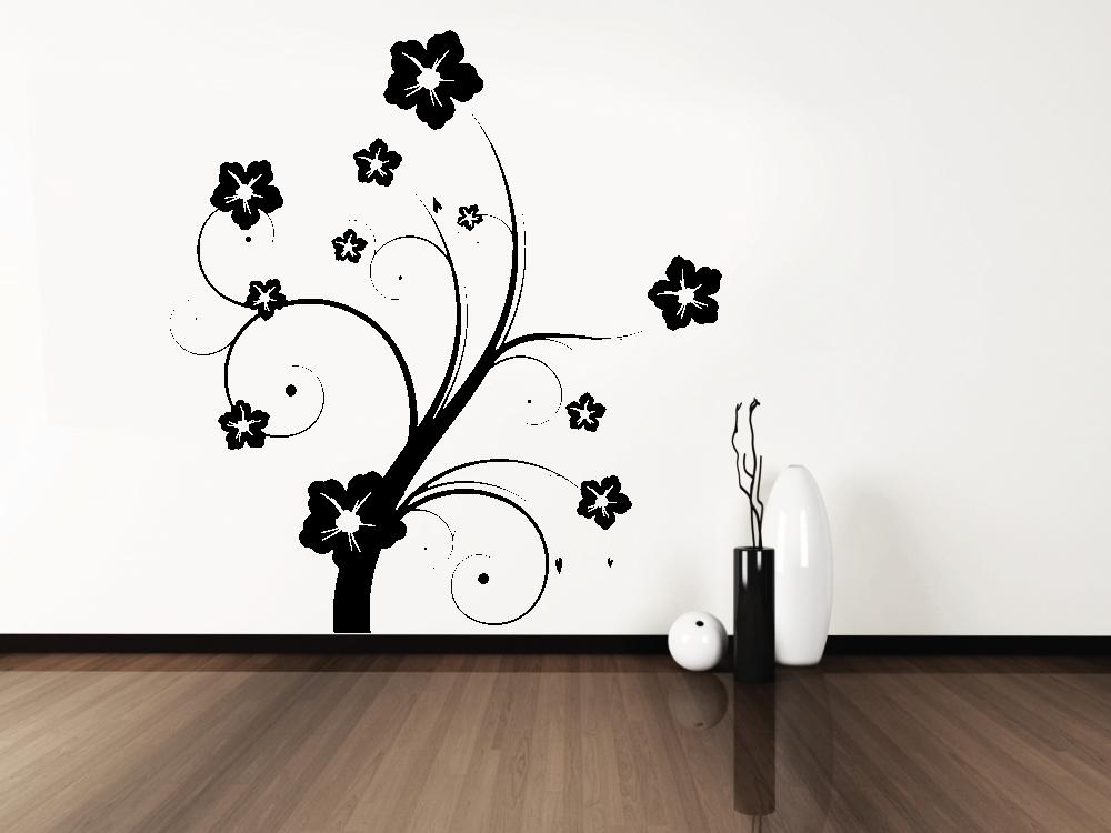 Samolepky na zeď - Mystická květina - Samolepka na zeď
