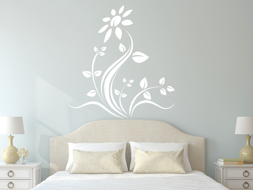 Samolepky na zeď - Tančící květina - Samolepka na zeď