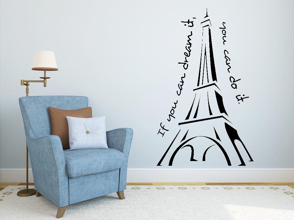 Samolepky na zeď - Eiffelova věž - Samolepka na zeď