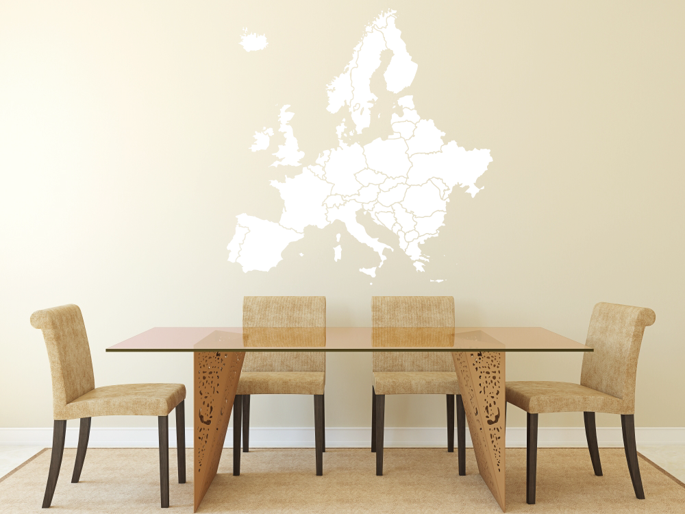 Samolepky na zeď - Mapa evropy - Samolepka na zeď