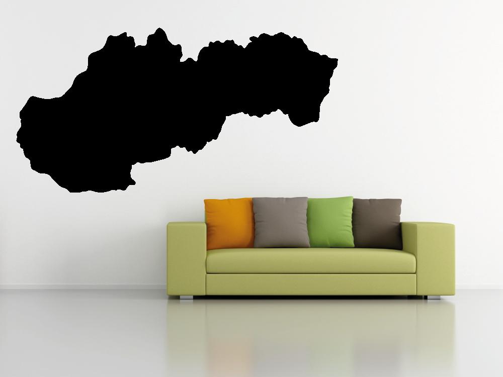 Samolepky na zeď - Mapa Slovensko - Samolepka na zeď