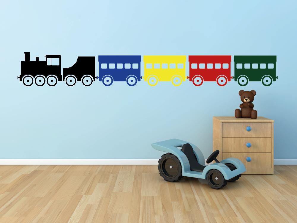 Samolepky na zeď - Lokomotiva k vláčku - Samolepka na zeď