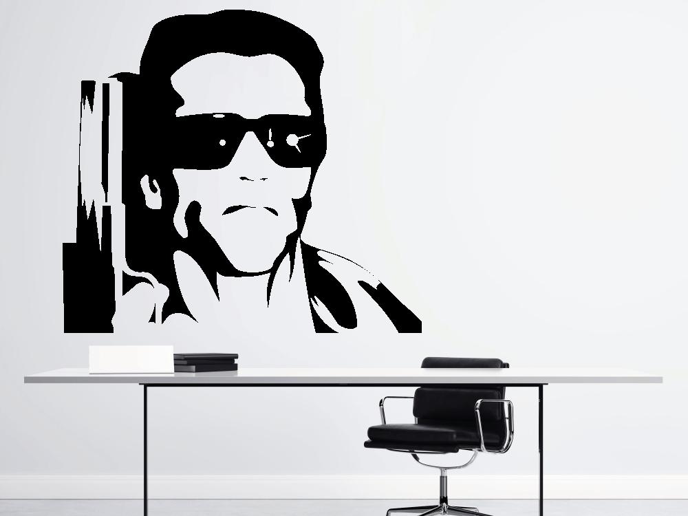 Samolepky na zeď - Arnold Schwarzenegger Terminátor - Samolepka na zeď