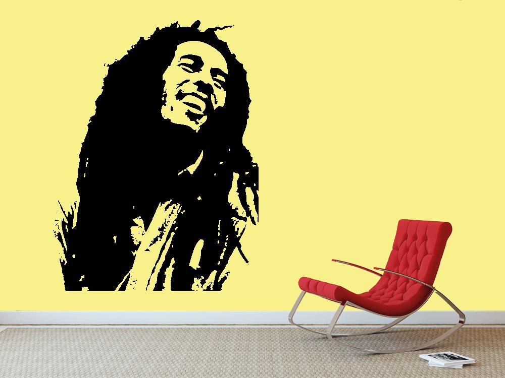Samolepky na zeď - Bob Marley - Samolepka na zeď
