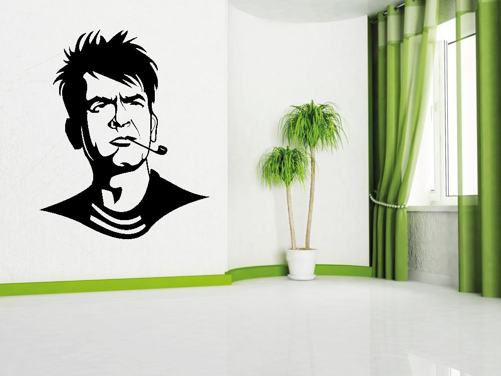 Samolepky na zeď - Charlie Sheen - Samolepka na zeď
