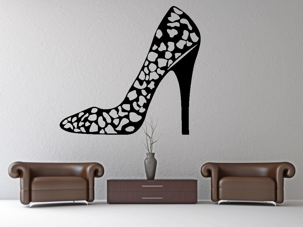 Samolepky na zeď - Dámská bota - Samolepka na zeď