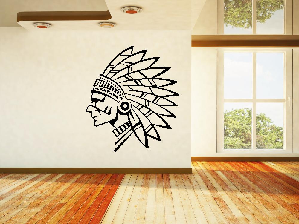 Samolepky na zeď - Indiánský náčelník - Samolepka na zeď