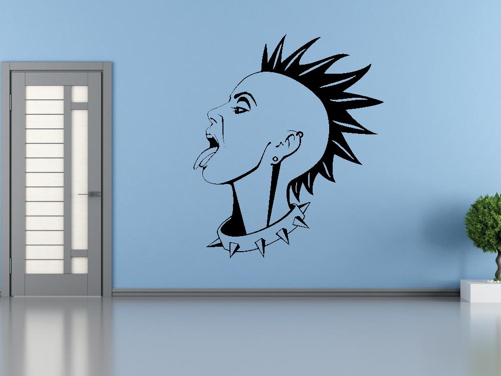 Samolepky na zeď - Punková holka - Samolepka na zeď