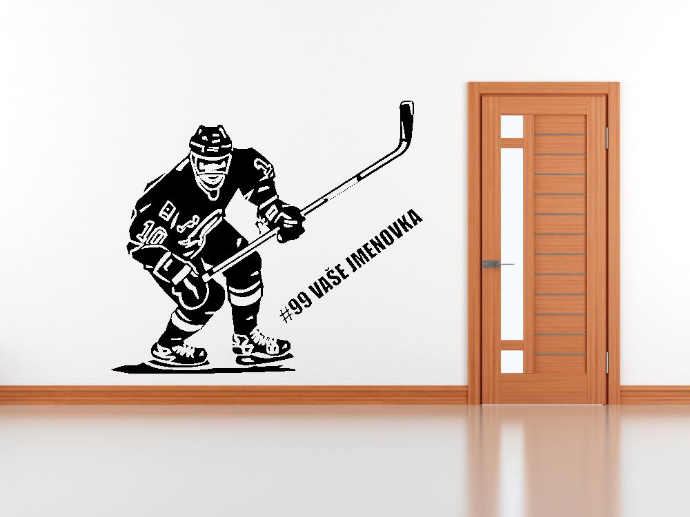 Samolepky na zeď - Hokejista - Samolepka na zeď