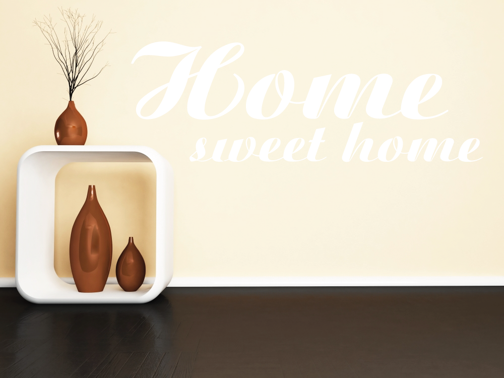 Samolepky na zeď - Home sweet home - Samolepka na zeď