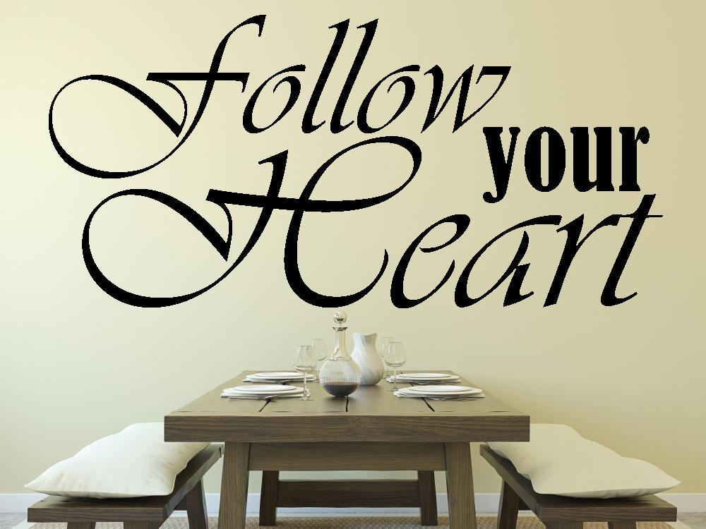 Samolepky na zeď - Follow your heart - Samolepka na zeď