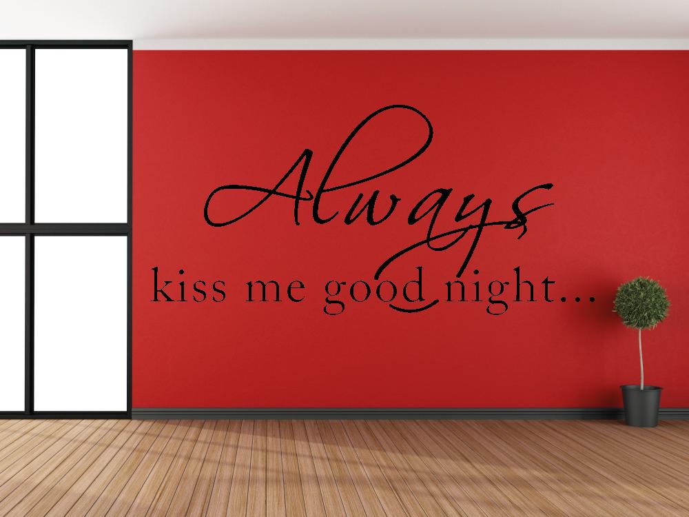 Samolepky na zeď - Always kiss me - Samolepka na zeď