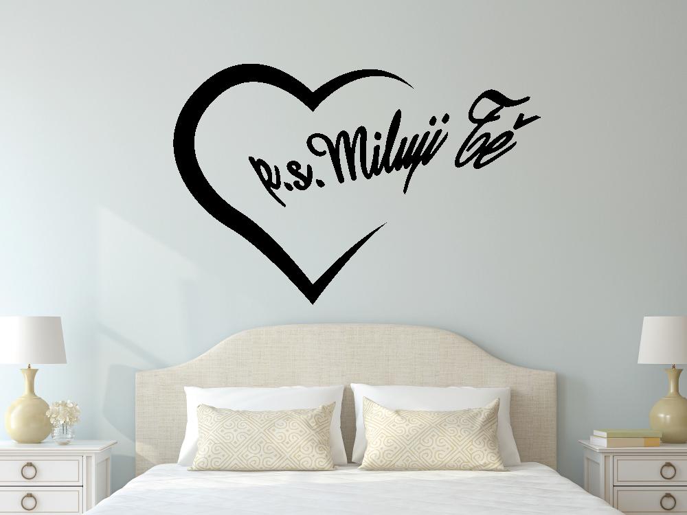 Samolepky na zeď - PS Miluji tě - Samolepka na zeď