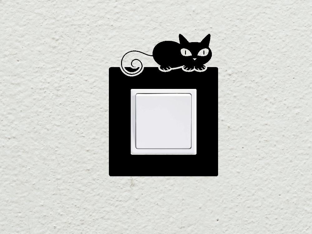 Samolepky na zeď - Kočka vypínač - zásuvka - Samolepka na zeď 7aee8615d3
