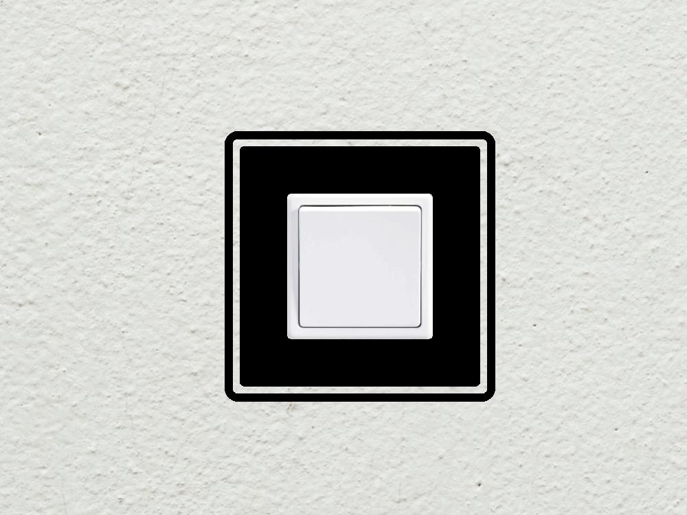Samolepky na zeď - Design vypínač - zásuvka - Samolepka na zeď