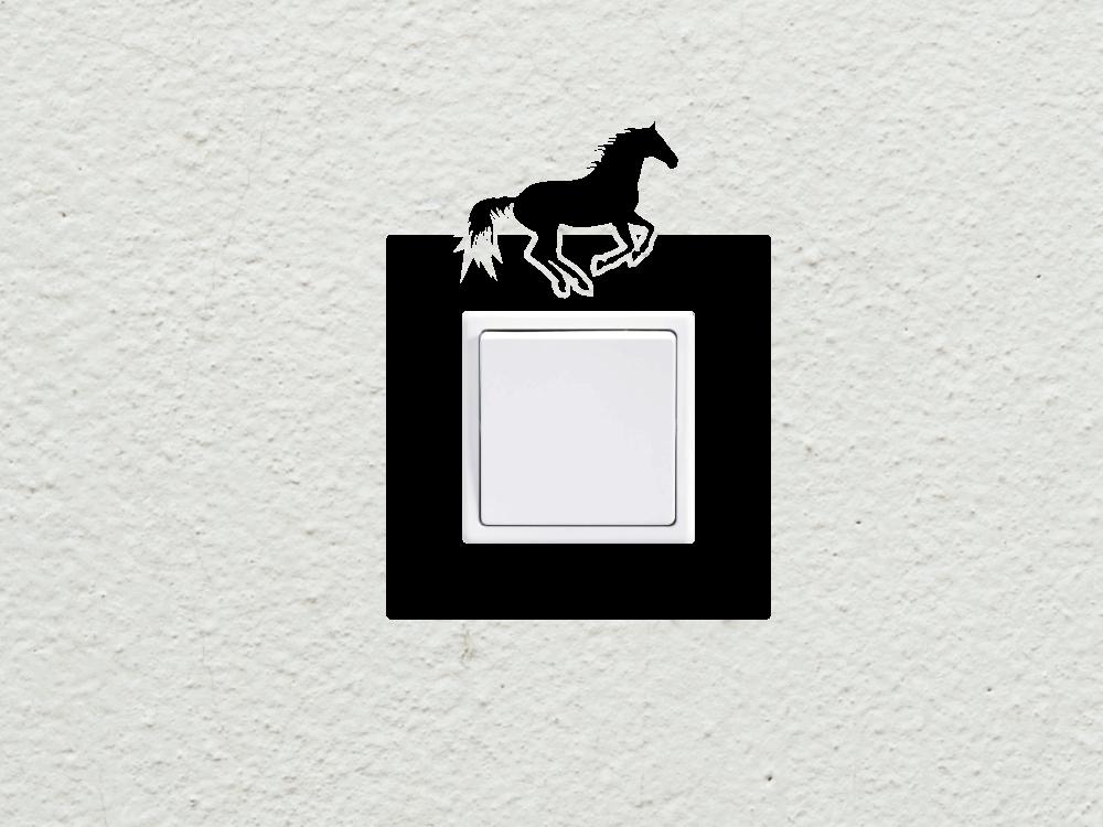 Samolepky na zeď - Kůň vypínač - zásuvka - Samolepka na zeď 986570cd64