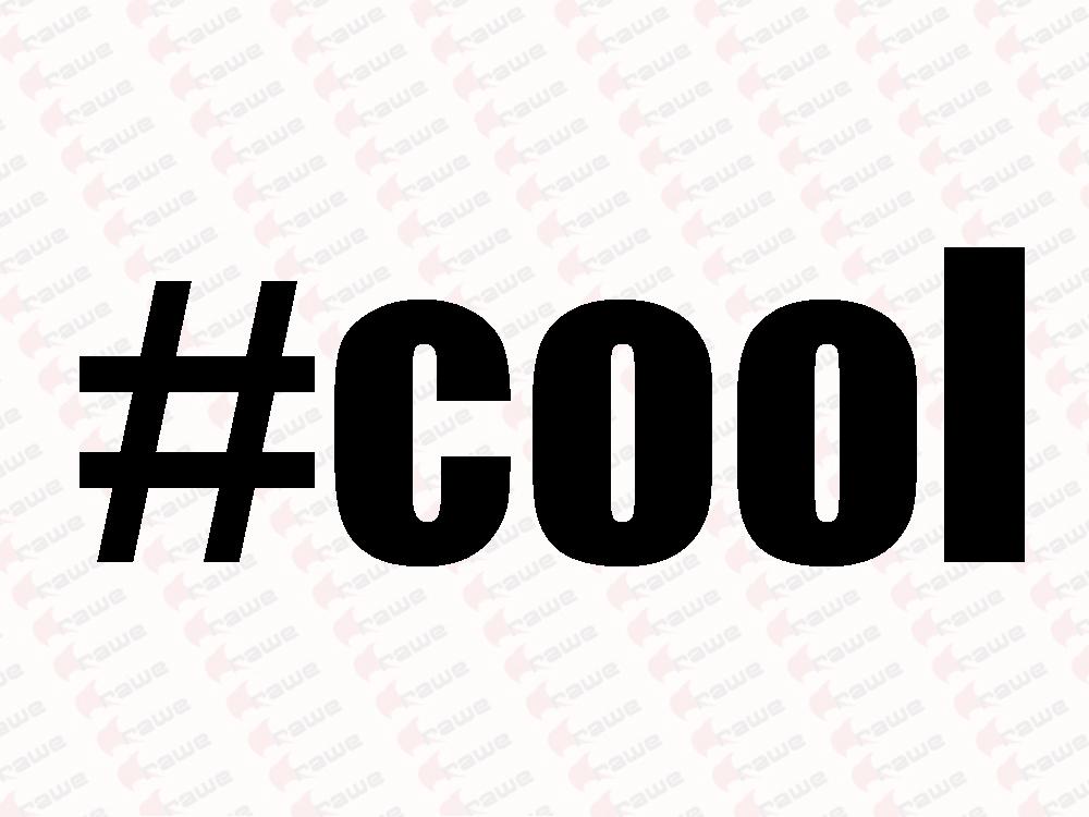 Samolepky na auto - #cool - HashTag - Samolepka na auto i notebook