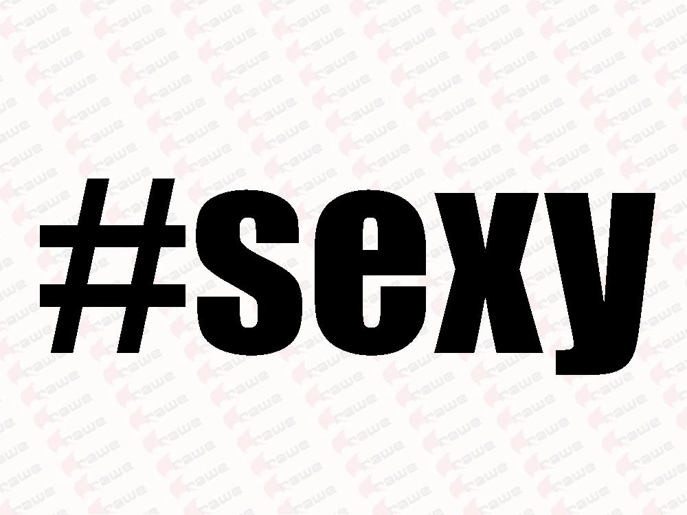 Samolepky na auto - #sexy - HashTag - Samolepka na auto i notebook