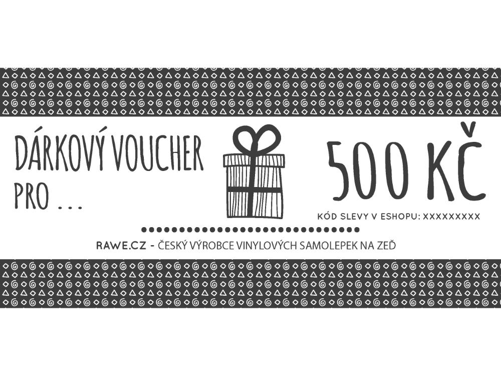 Dárkové vouchery - Dárkový voucher v hodnotě 500,-Kč