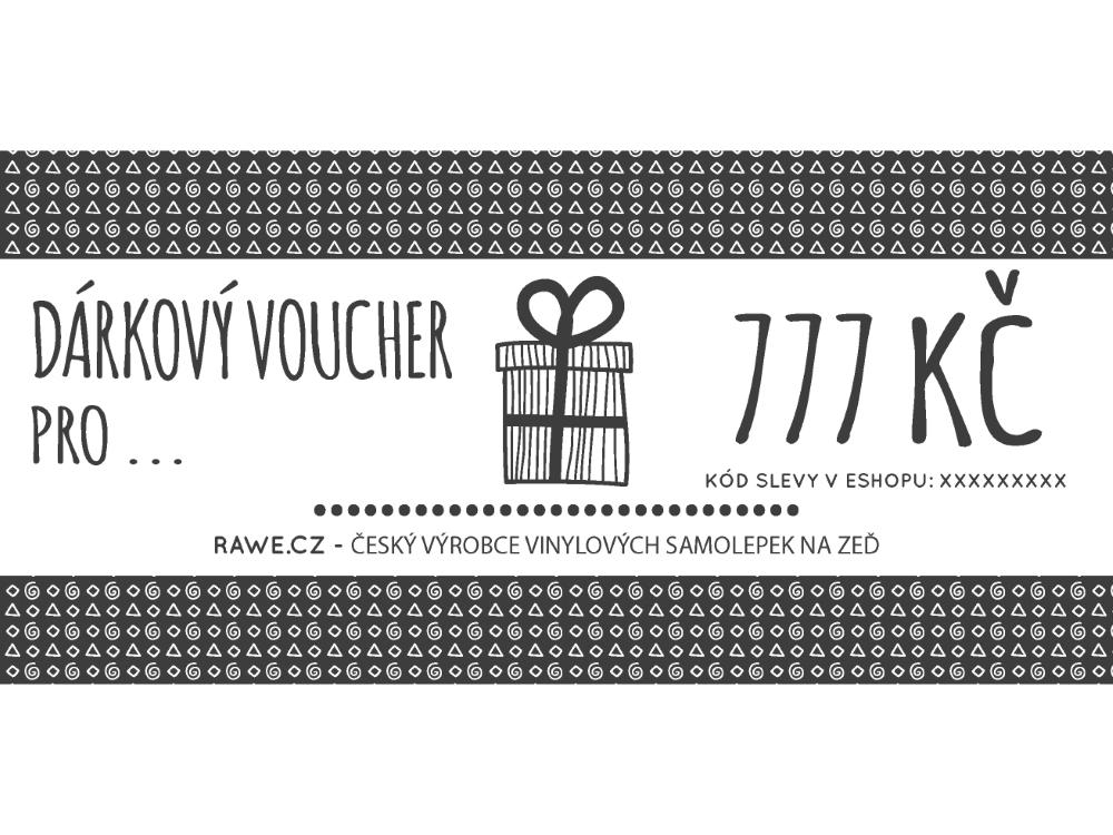 Dárkové vouchery - Dárkový voucher v hodnotě 777,-Kč
