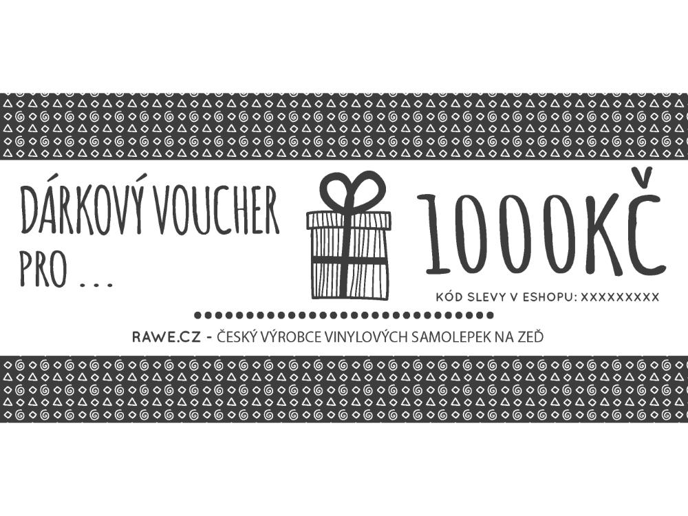 Dárkové vouchery - Dárkový voucher v hodnotě 1000,-Kč