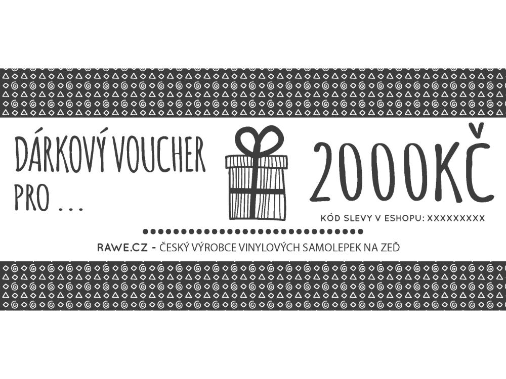 Dárkové vouchery - Dárkový voucher v hodnotě 2000,-Kč