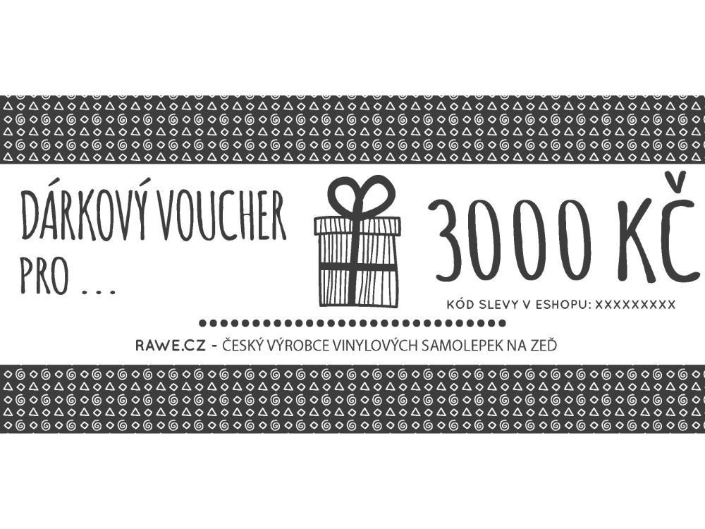 Dárkové vouchery - Dárkový voucher v hodnotě 3000,-Kč