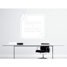 Creativity is Intelligence - Samolepka na zeď